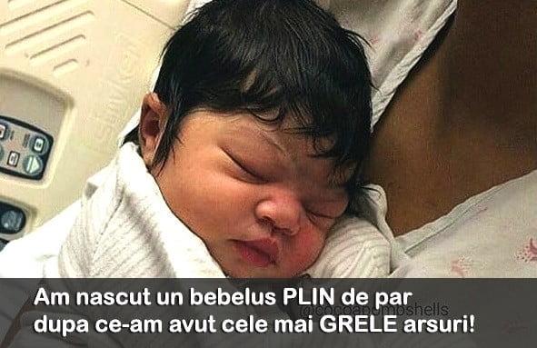 Cresterea parului la bebelusi