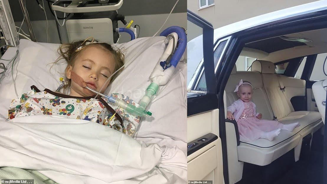 O fetiță de trei ani se luptă cu o formă rară de cancer