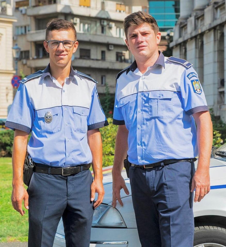 Gestul impresionant facut de doi politisti din Capitala pentru un copilas care se lovise la cap   Demamici.ro
