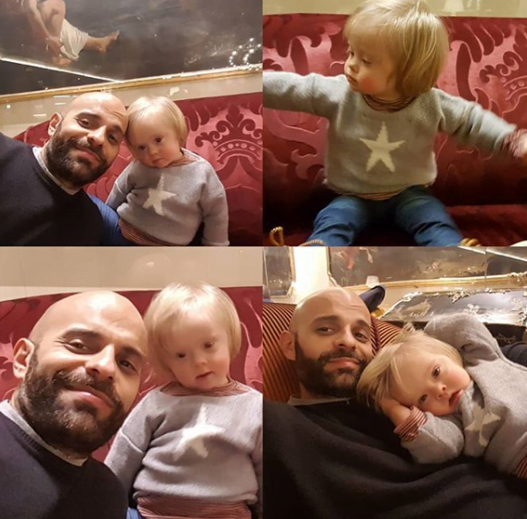 O fetita cu sindromul Down a fost adoptata de un tata singur