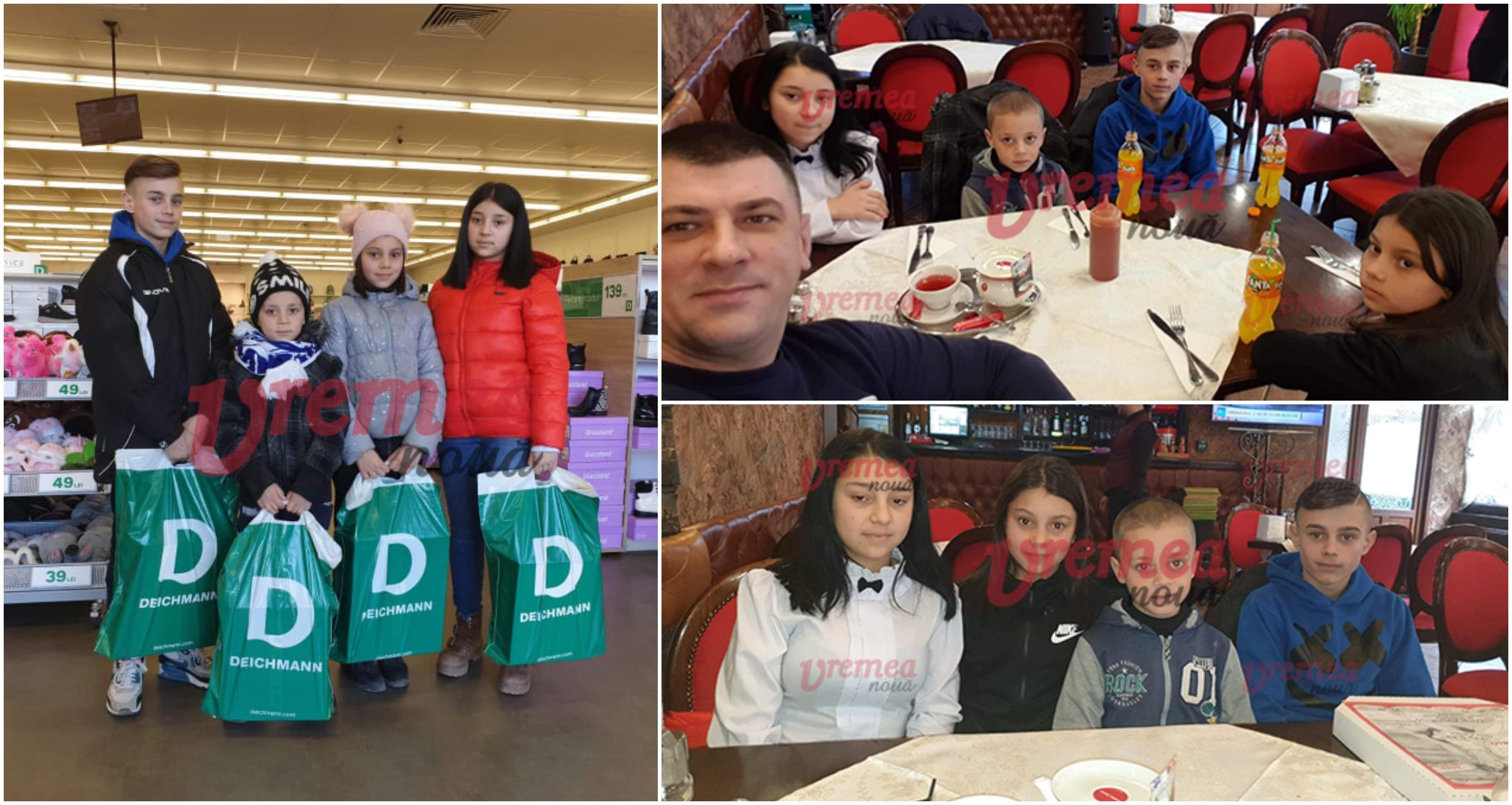 Un vasluian a facut fericiti 4 copii necajiti, de ziua lui de nastere. Le-a cumparat haine si i-a dus la film | Demamici.ro