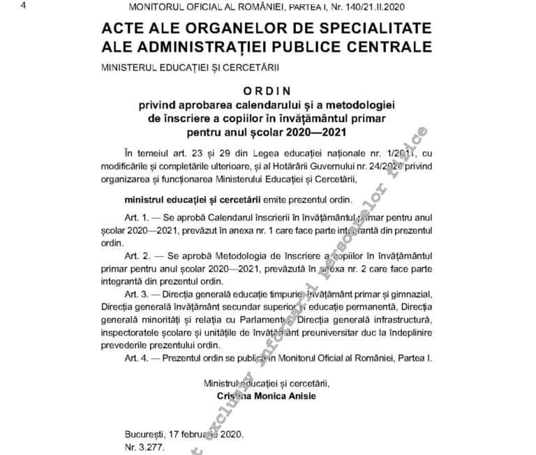 Inscrierea in clasa pregatitoare. Calendarul inscrierilor pentru 2020-2021   Demamici.ro
