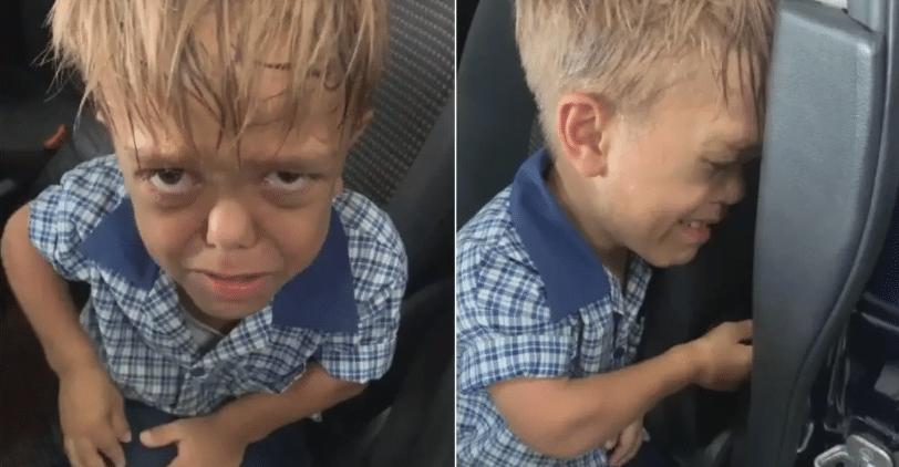 Efectele bullying-ului. Un baietel de 9 ani, bolnav de nanism, plange si spune ca vrea sa moara dupa ce-a fost umilit la scoala VIDEO | Demamici.ro