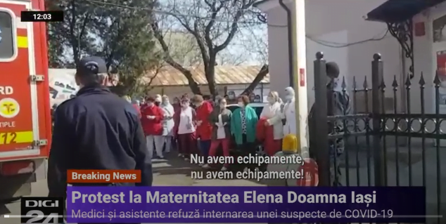 Gravida, suspecta de coronavirus, refuzata de Maternitatea Elena Doamna din Iasi. Medicii protesteaza VIDEO | Demamici.ro