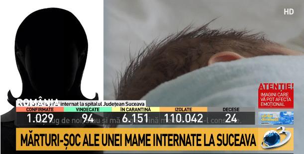 """Mama unui bebelus de 5 luni, suspect de coronavirus, apel disperat din spital: """"Baiatul meu moare aici, pe pat. E vanat tot!""""   Demamici.ro"""