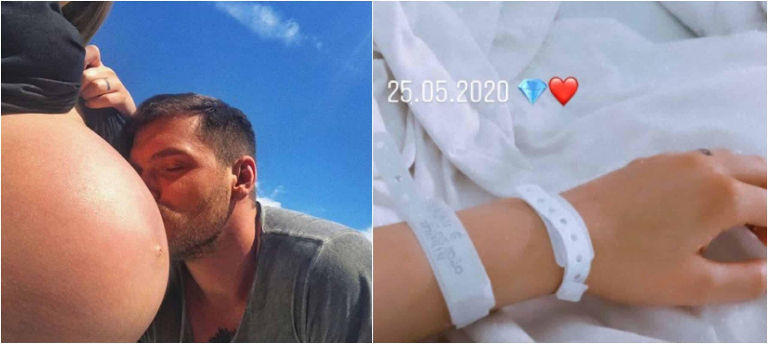 Emoții mari pentru Bogdan Vlădău și Gina Chirilă. Fotomodelul își aduce pe lume fetița | Demamici.ro