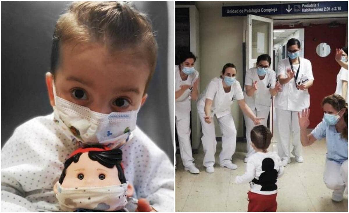 Victor a suferit la 3 ani un transplant de șase organe. Micuțul erou, aplaudat de medici la externare | Demamici.ro