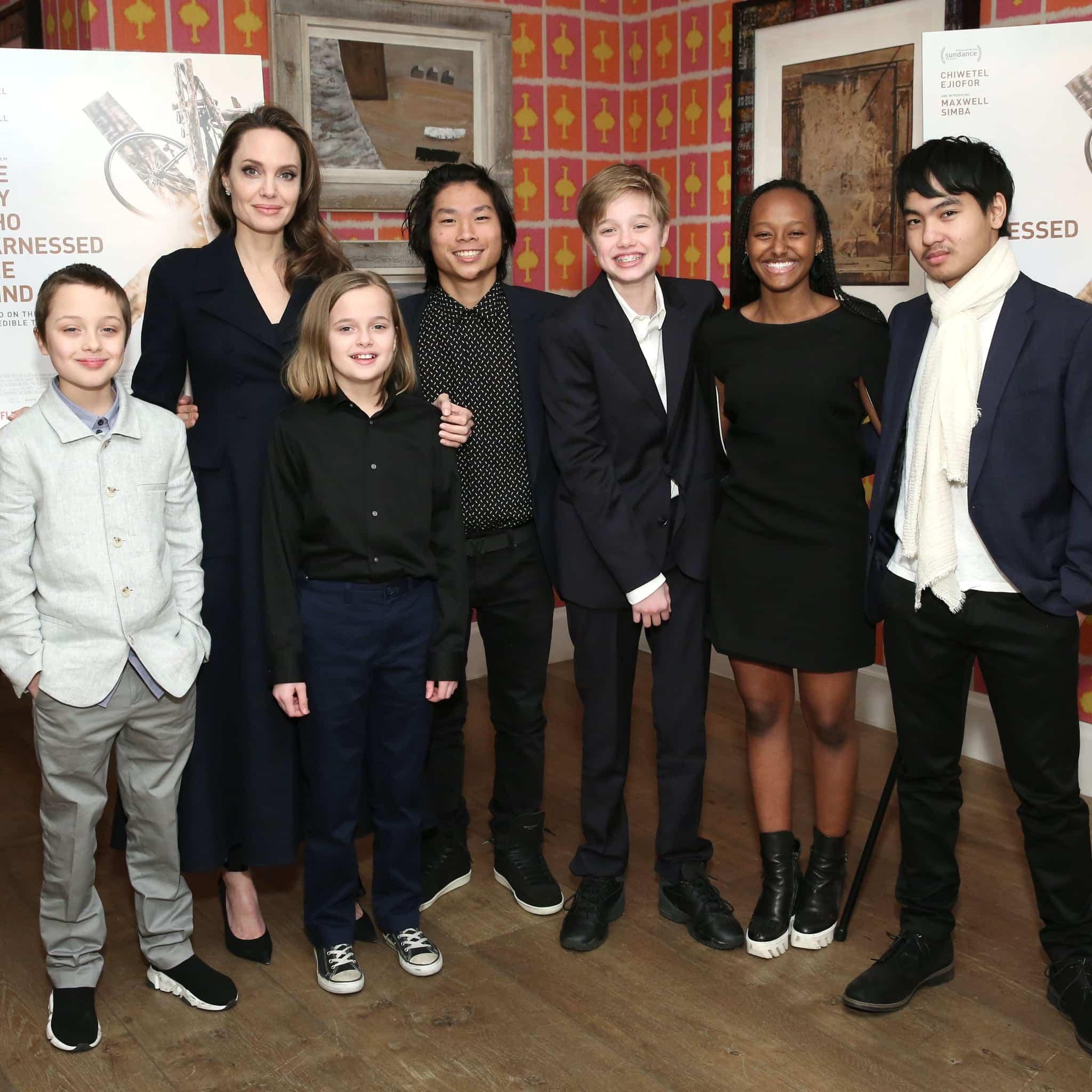 """Angelina Jolie, mamă cu 6 copii: """"Încerc mereu să fiu calmă în fața copiilor, iar ei să nu-mi simtă fricile"""""""