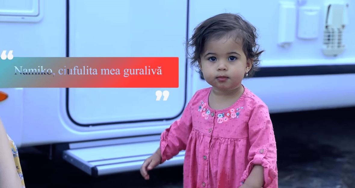Cabral și Andreea Ibacka nu mai ascund chipul fetiței lor! Cât de frumoasă e Namiko și cu cine seamănă VIDEO   Demamici.ro