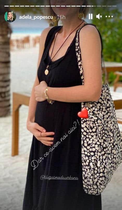 Adela Popescu, prima imagine cu burtica pe plajă. Vedeta e la a treia sarcină