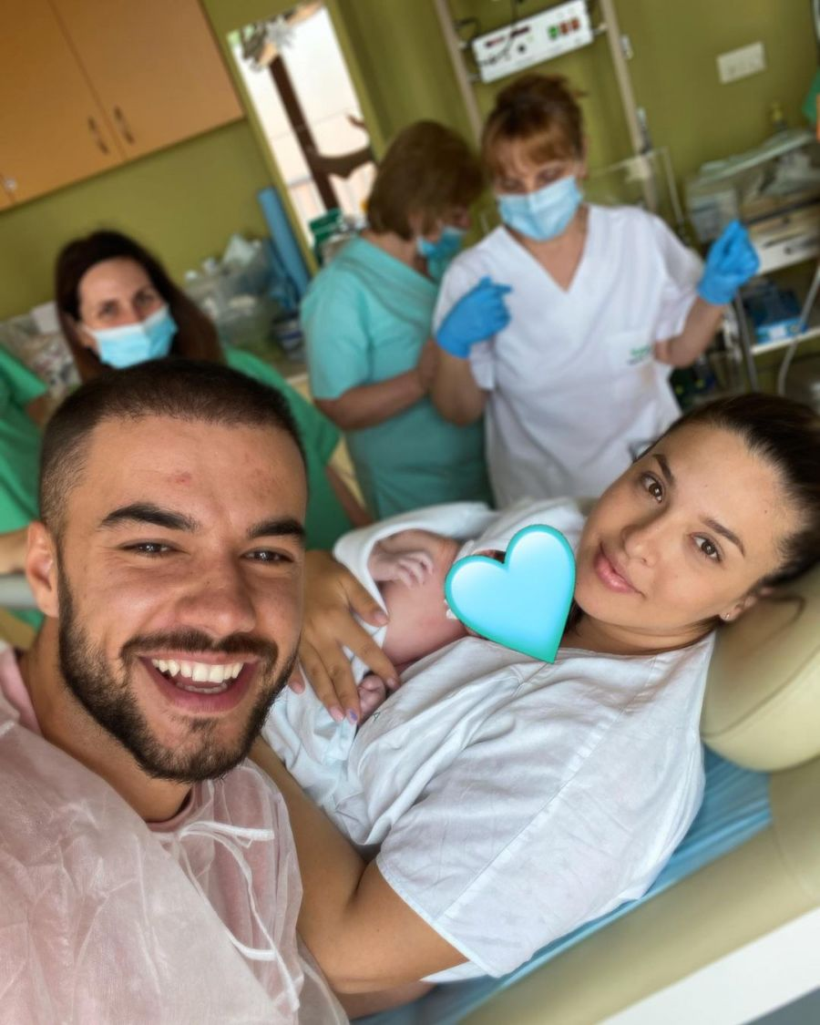 """Daniela și Culiță Sterp, prima imagine cu bebelușul lor: """"Astăzi am văzut cum arată fericirea"""""""