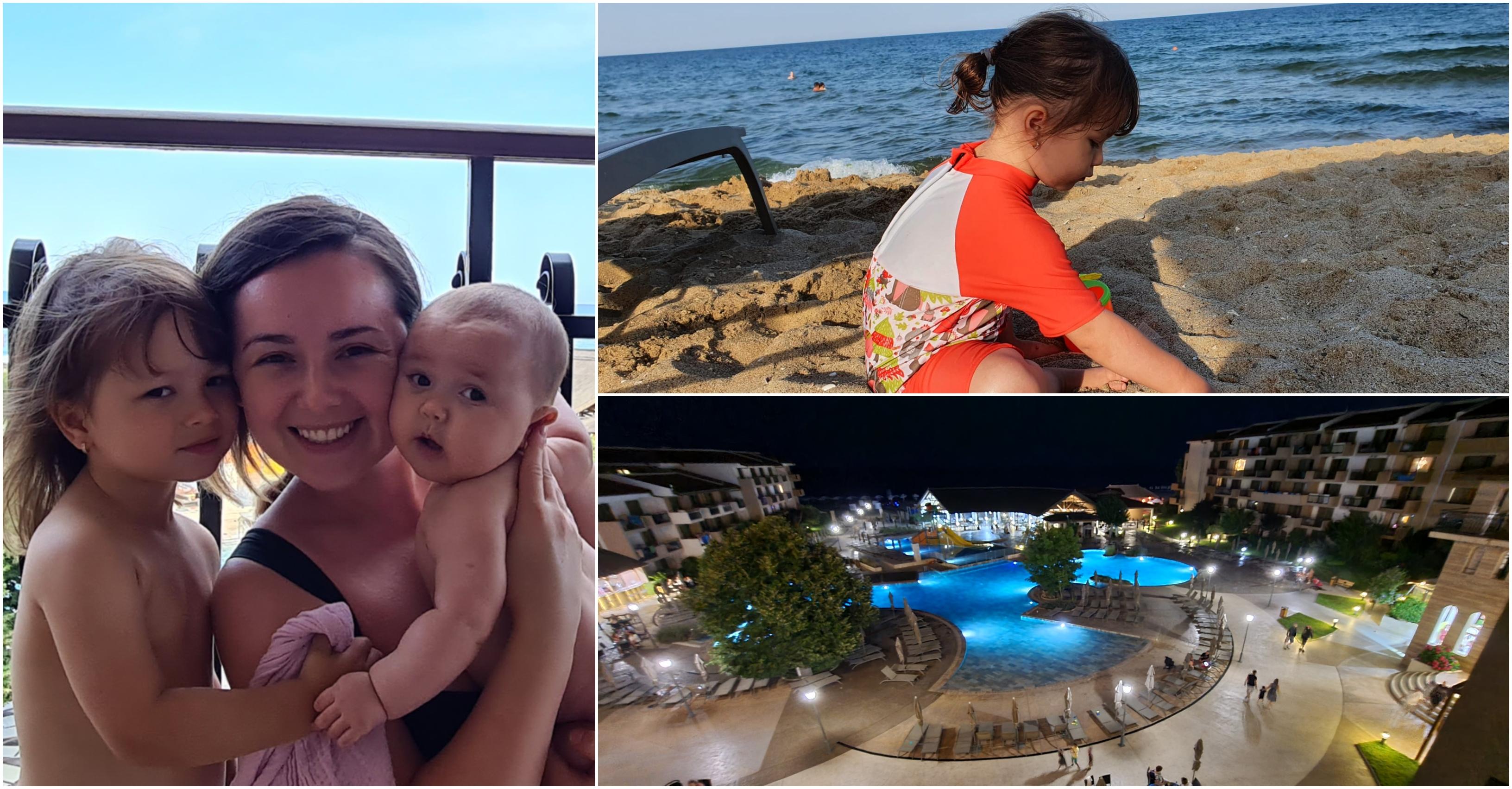 La mare cu un bebeluș și un copil de trei ani. Alegerea perfectă: HVD Clubhotel Miramar, locație de top pentru familiile cu copii. Review complet   Demamici.ro