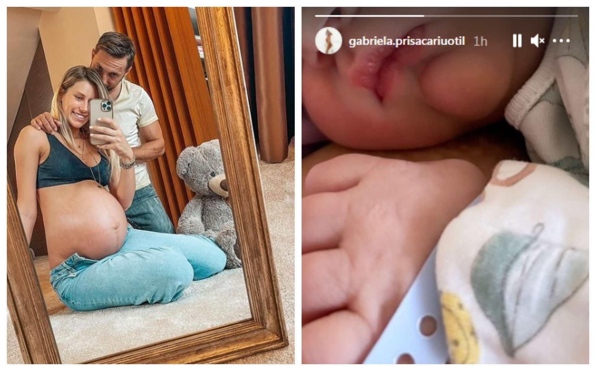 Dani Oțil a devenit tătic. Gabriela Prisăcariu a născut primul lor copil | Demamici.ro